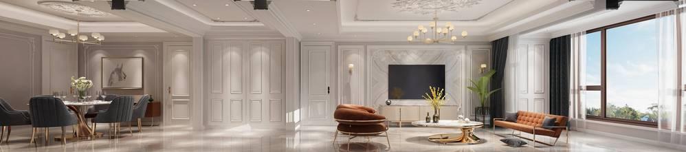 20万以上140平米别墅轻奢风格客厅图片大全