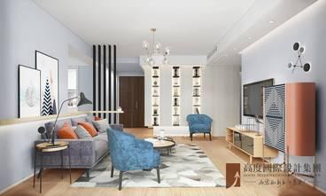 豪华型130平米现代简约风格客厅装修效果图