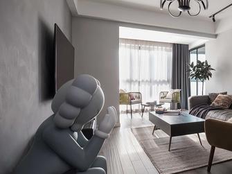 富裕型100平米三室两厅工业风风格客厅图