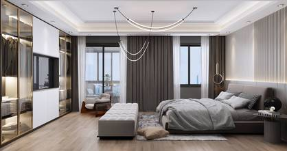 140平米复式轻奢风格卧室效果图