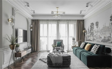 10-15万120平米三室一厅美式风格客厅图