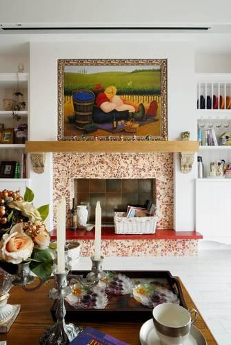 110平米三地中海风格客厅设计图