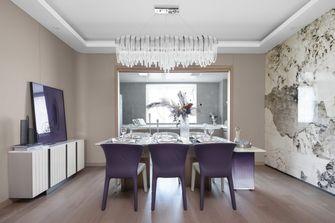 20万以上140平米三室一厅轻奢风格餐厅图片大全