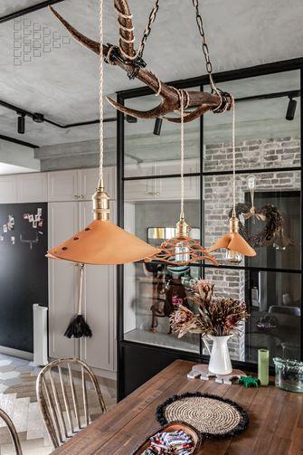 110平米三室三厅工业风风格餐厅设计图
