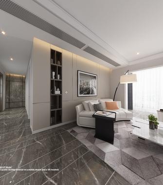 豪华型130平米三室三厅现代简约风格客厅图片大全