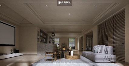 20万以上140平米别墅现代简约风格影音室装修案例