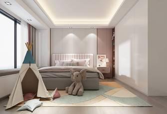 富裕型140平米三室两厅现代简约风格青少年房欣赏图
