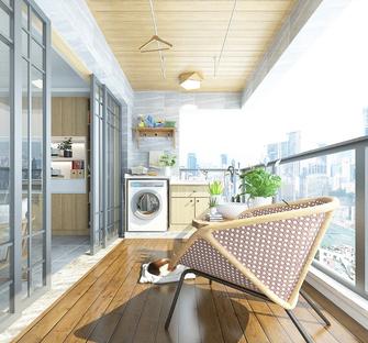 120平米现代简约风格阳台装修效果图