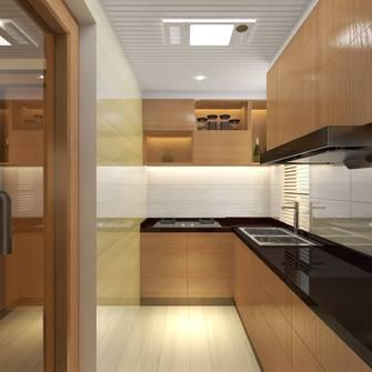 富裕型80平米三室一厅日式风格厨房图片