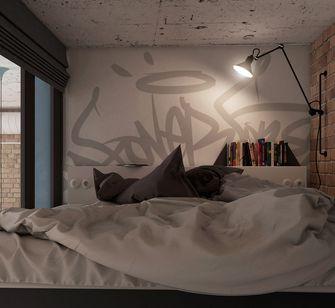 20万以上60平米复式工业风风格卧室图片
