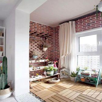 110平米三室一厅北欧风格阳台装修效果图
