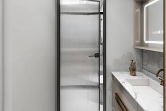 经济型90平米三室一厅现代简约风格卫生间欣赏图