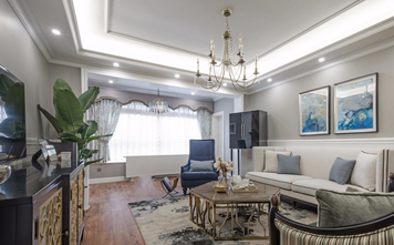 豪华型140平米美式风格客厅图