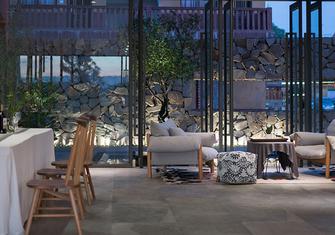 豪华型140平米别墅公装风格餐厅装修效果图