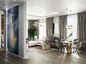 富裕型110平米三轻奢风格客厅图