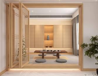 20万以上100平米三室两厅日式风格书房图片