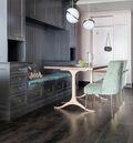 经济型120平米三室一厅法式风格书房装修效果图