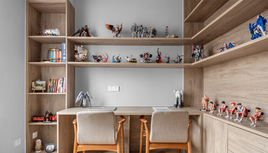 10-15万120平米三北欧风格书房图片