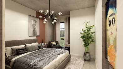 三室三厅工业风风格卧室效果图