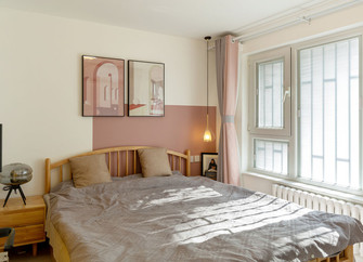 富裕型80平米一室两厅北欧风格卧室图
