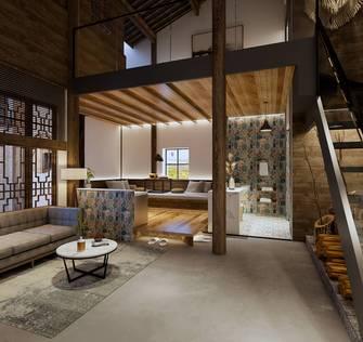140平米公装风格卧室欣赏图