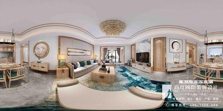 20万以上140平米别墅英伦风格客厅欣赏图