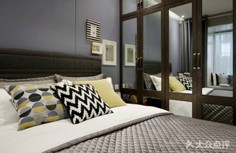 富裕型90平米北欧风格卧室设计图
