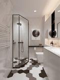 10-15万120平米三室两厅现代简约风格卫生间装修效果图