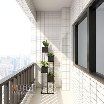 经济型130平米现代简约风格阳台图