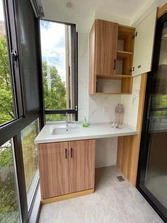 富裕型130平米三室两厅北欧风格阳台装修效果图