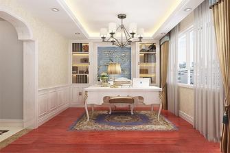 富裕型110平米三室两厅欧式风格书房设计图