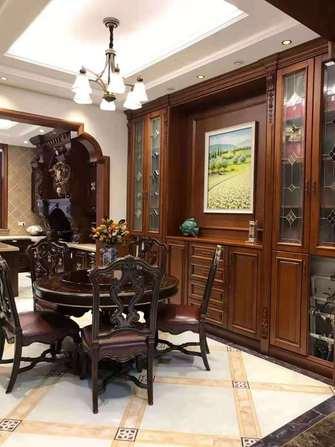 140平米四室四厅美式风格餐厅欣赏图