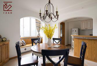 富裕型140平米三室两厅田园风格餐厅装修案例
