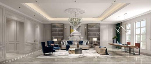 20万以上140平米别墅法式风格客厅欣赏图