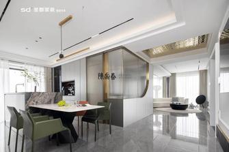 130平米三室两厅轻奢风格餐厅图片大全