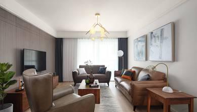 富裕型50平米一室一厅北欧风格客厅图