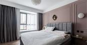 经济型70平米英伦风格卧室效果图