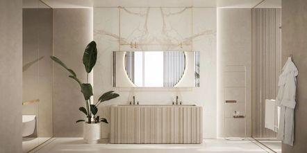豪华型140平米别墅英伦风格卫生间装修效果图