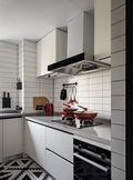 20万以上120平米三室一厅混搭风格厨房欣赏图