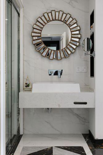 富裕型90平米三室两厅轻奢风格卫生间设计图