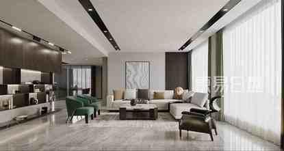 20万以上140平米复式现代简约风格客厅效果图