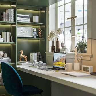 100平米法式风格书房图