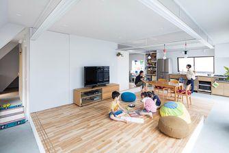 富裕型100平米四室一厅日式风格客厅图