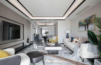 豪华型130平米三室两厅轻奢风格客厅图片大全