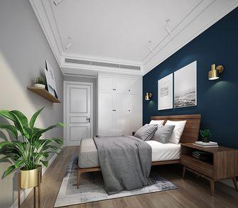 20万以上120平米三室两厅北欧风格卧室欣赏图