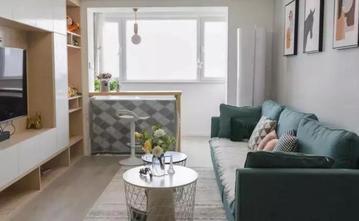 富裕型80平米三室一厅北欧风格客厅图