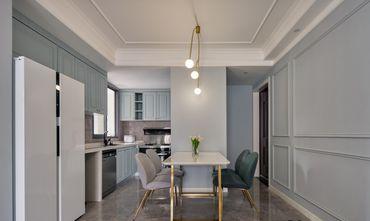 富裕型80平米三室一厅欧式风格餐厅图片