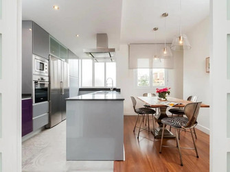 140平米复式混搭风格厨房设计图