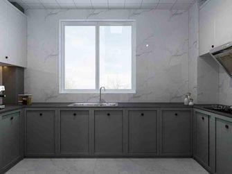 豪华型130平米三室一厅美式风格厨房图片