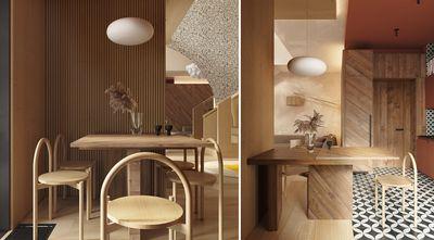 豪华型130平米复式现代简约风格餐厅欣赏图